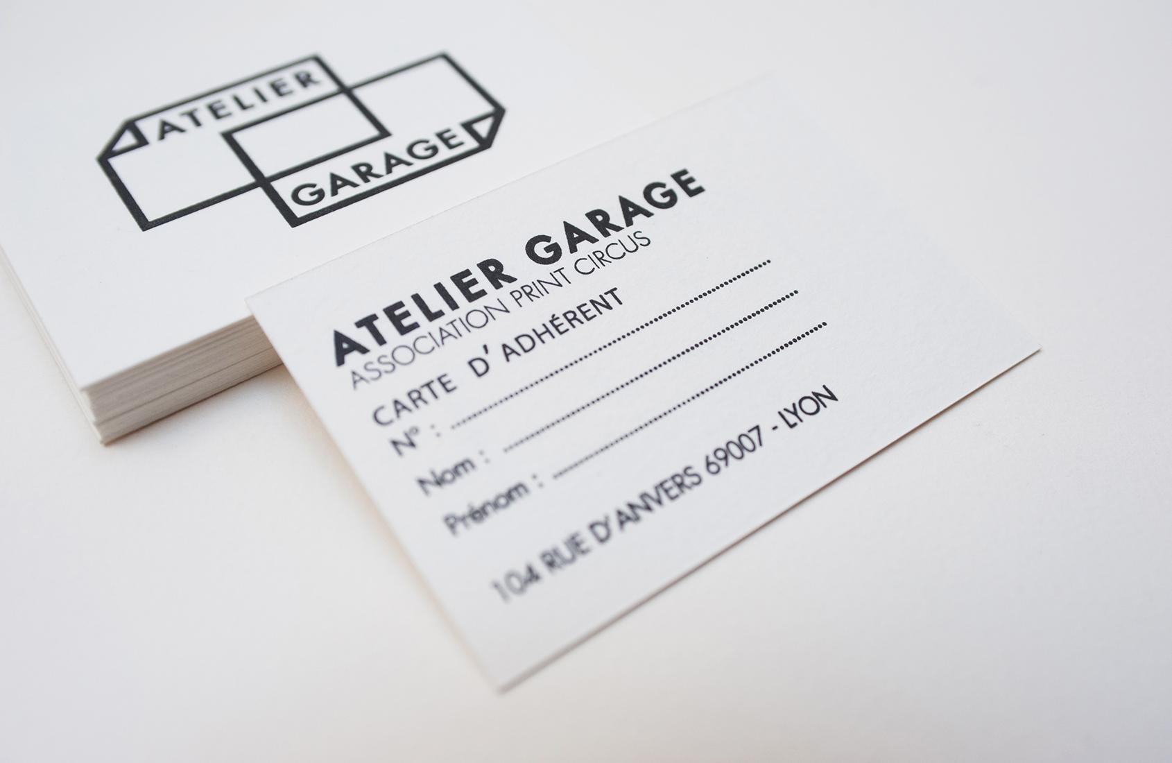 Creation Du Logo Et Impression Des Cartes De Visite Dadherent Pour LAtelier Garage Atelier Dedition Artisanale Associatif Avec Lequel Nous Partageons