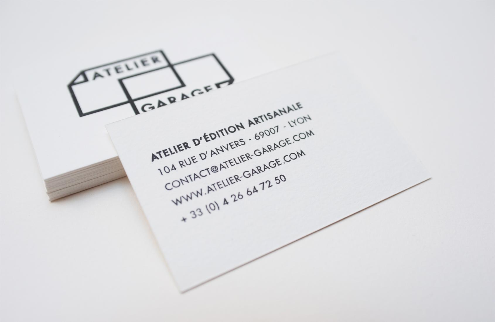 Cration Du Logo Et Impression Des Cartes De Visite Dadhrent Pour LAtelier Garage Atelier Ddition Artisanale Associatif Avec Lequel Nous Partageons