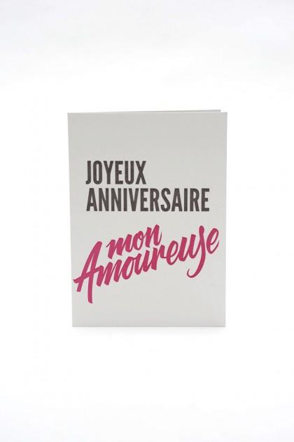 Cartes d'anniversaire letterpress.