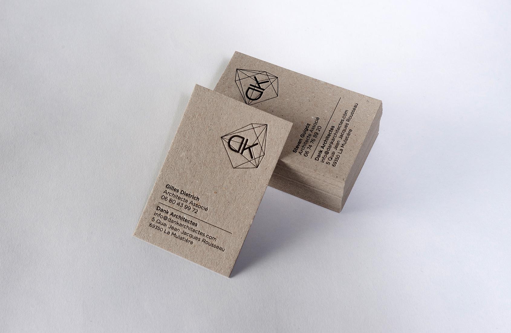 Cartes De Visite Letterpress Ralises Pour Lagence Darchitecture